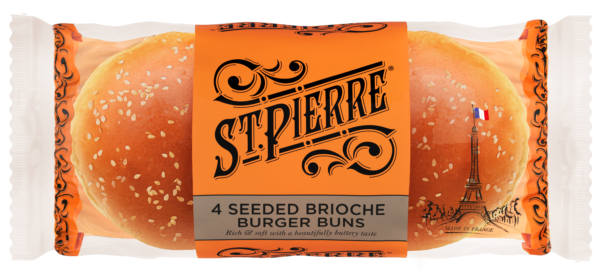 Pack of 4 Seeded Brioche Burger Buns
