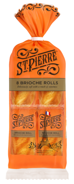 A pack of eight St Pierre Brioche Rolls
