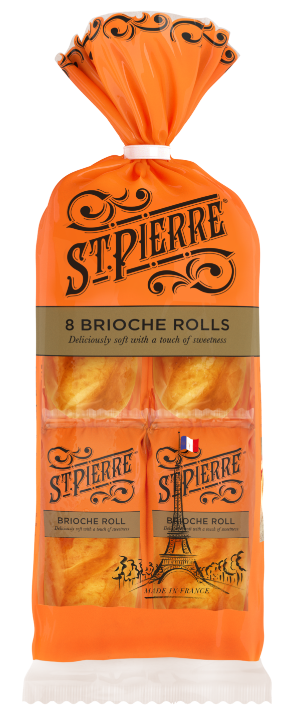 A pack of eight St Pierre Brioche Rolls