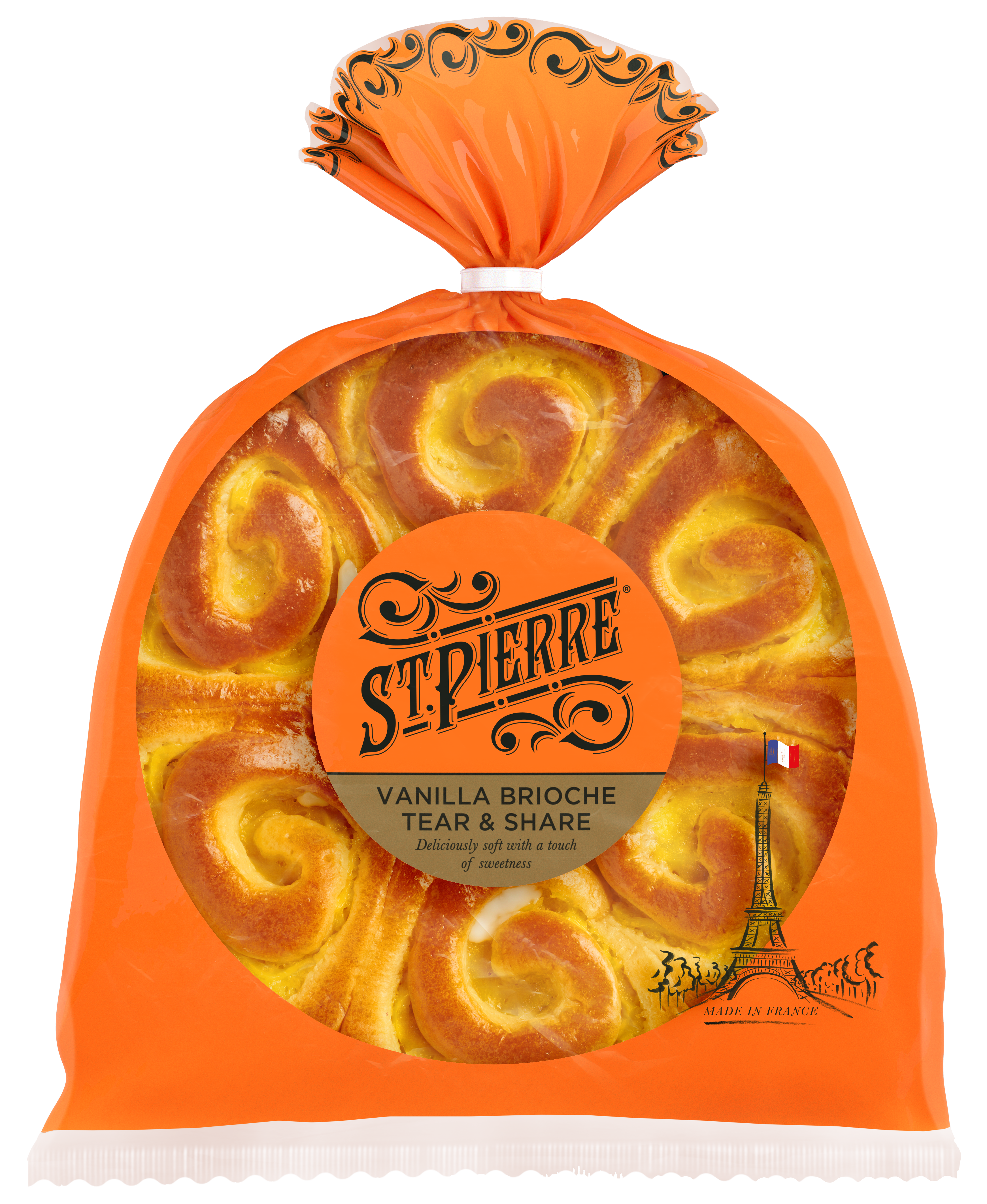 Pack of St Pierre Vanilla Brioche Tear and Share