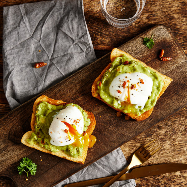 Jan-YOU-ary recipe of avocado and egg on brioche toast