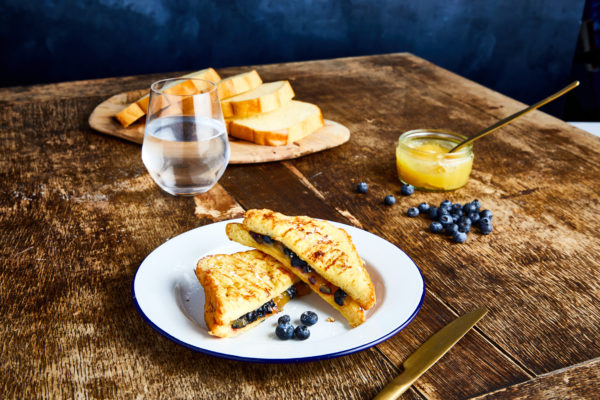 Valentine's Day recipe idea for a Blueberry & Lemon Curd French Toast