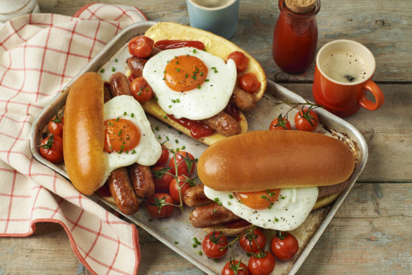 Sausage and Egg Breakfast Hot Dogs