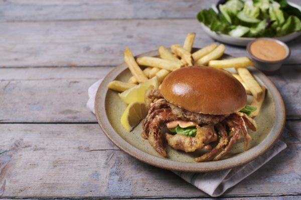 Soft Shell Crab Brioche Burger