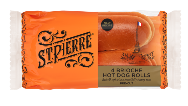 St Pierre 4 Hot Dog Rolls