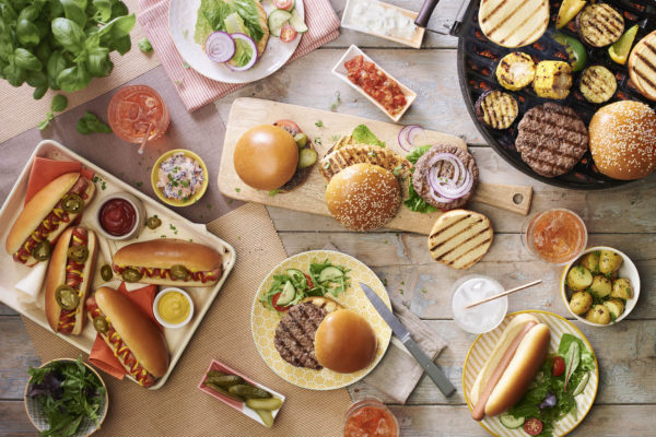 Table Spread Fully Covered Of St Pierre BBQ Food